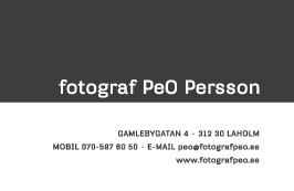 Fotograf PeO Persson